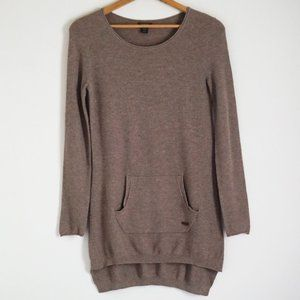 Roots Thin Knit Sweater / Front Pouch / High Low